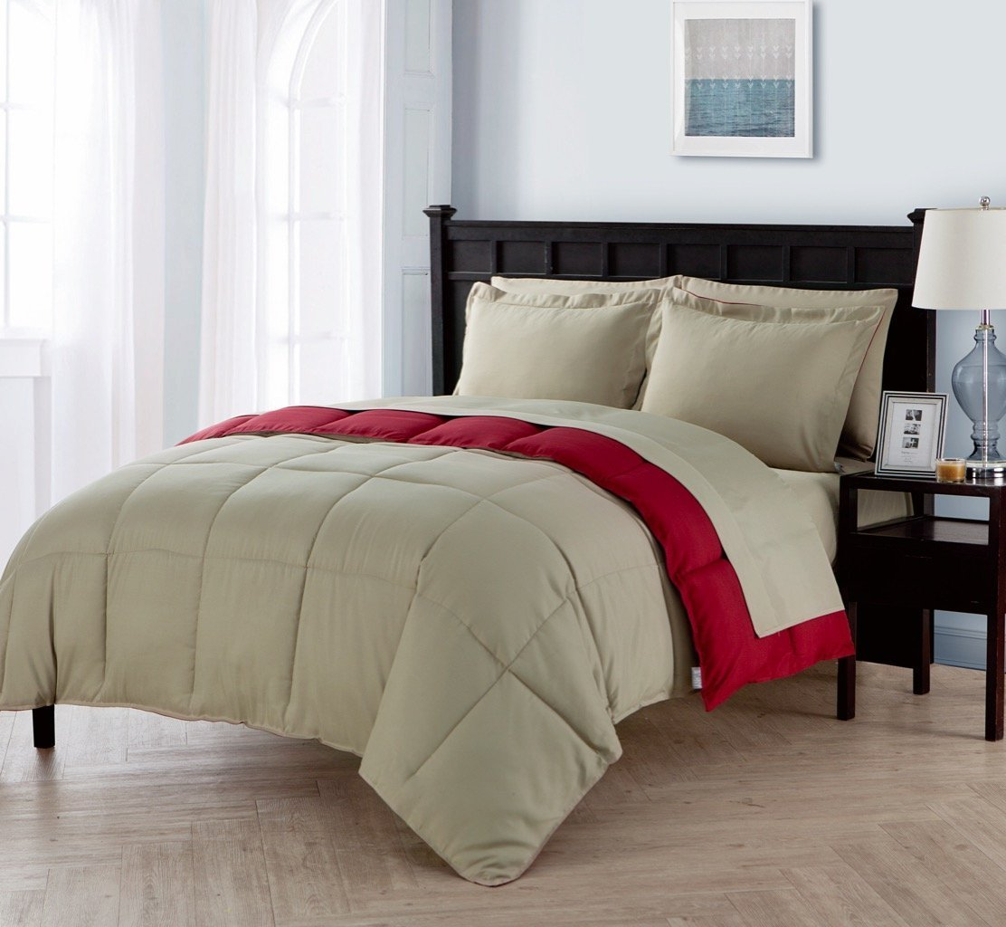 VCNY Home Lincoln Down Alternative 5/7-Piece Reversible Comforter Set
