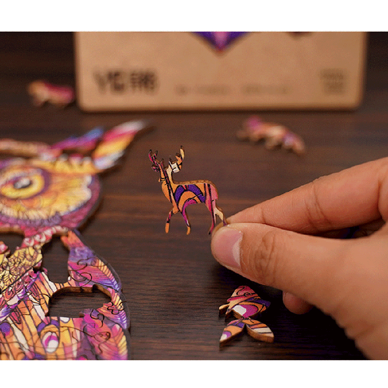 Magic Wooden Jigsaw Puzzle - Color Owl🦉 | Best Gift for Children