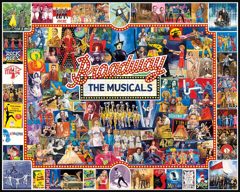 【BUY 2 FREE SHIPPING】Broadway Jigsaw puzzle