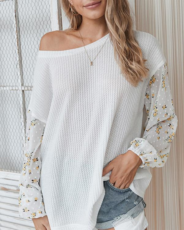 Floral Knitted Sweatshirt