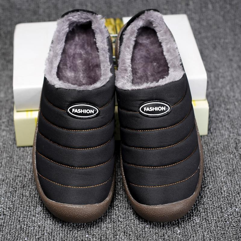 Womens House Slippers Slip on Winter Snow Slippers Indoor Outdoor Fully Fur Lined Anti-Slip Slippers