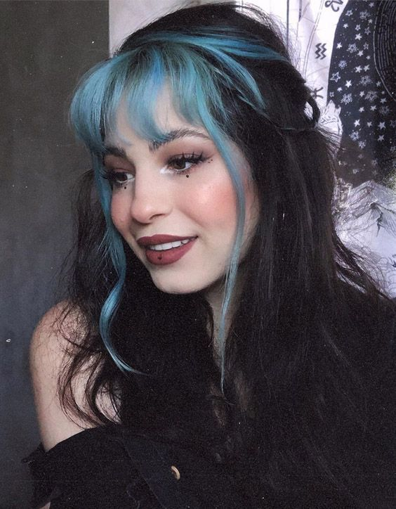 Blue Wigs Lace Frontal Wigs Cheap Human Wigs Silver Hair With Blue Highlights Ice Blue Hair Colour Blue Sky Nina Wig