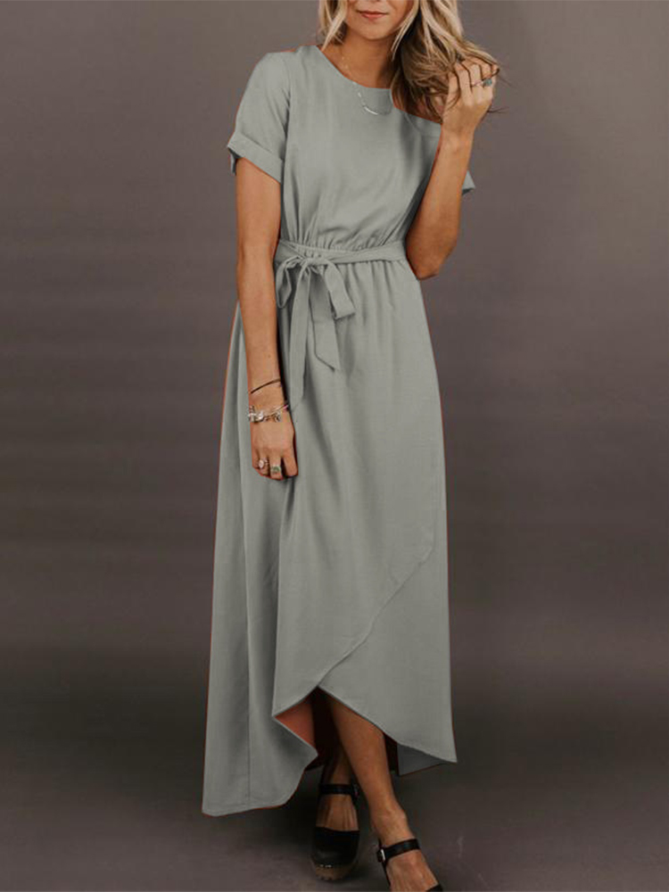Solid Color Simple Dress