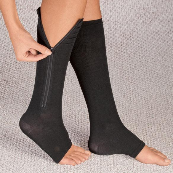 Zipper Compression Socks - Zip Up Support Stockings ~ Easy to Wear!