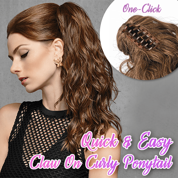 🔥BUY 2 EXTRA 20% OFF🔥Quick & Easy Claw on Curly Ponytail