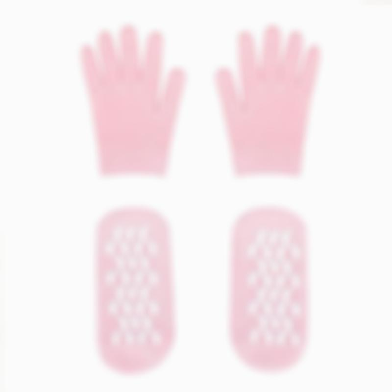 Pink Magic Gel Moisturizing Breathable Yarn Gloves and Socks