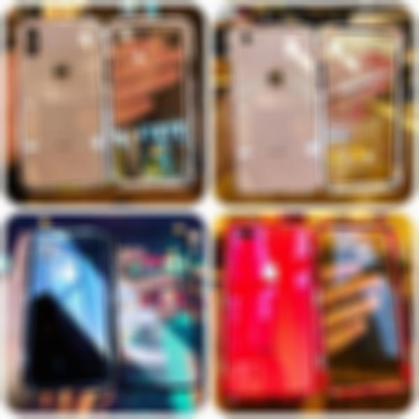 SKRTEN For iphone Magnetic Adsorption Transparent Glass Two Side Cover Phone Case Metal Frame 360 Protection