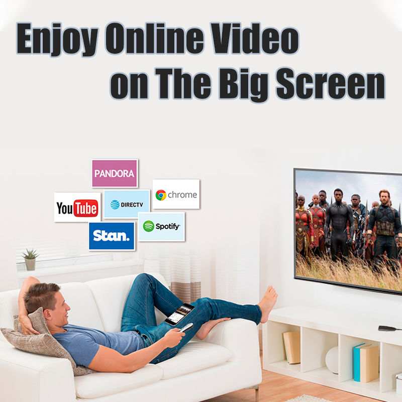 1080P MiraScreen Wireless Dongle Video Adapter (für iOS / Android)