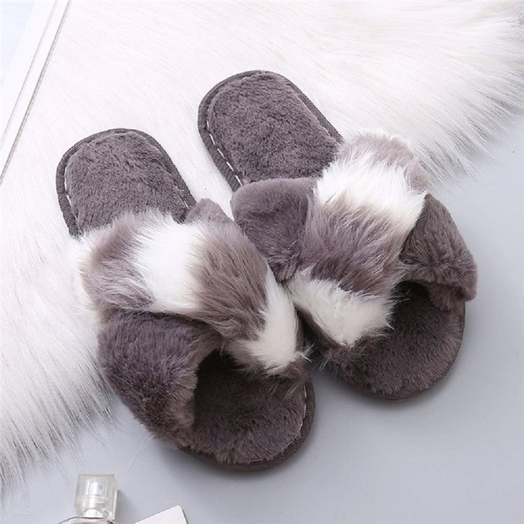 Warm Fussy Flip Flop House Slippers Open Toe Home Slippers for Girls Men