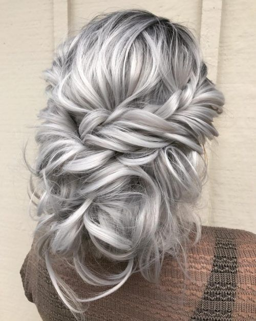 Gray Hair Wigs For African American Women Middle Part Wig Rose Gold Grey Hair Braided Wigs Best Colour For Grey Hair Joe Dirt Wig
