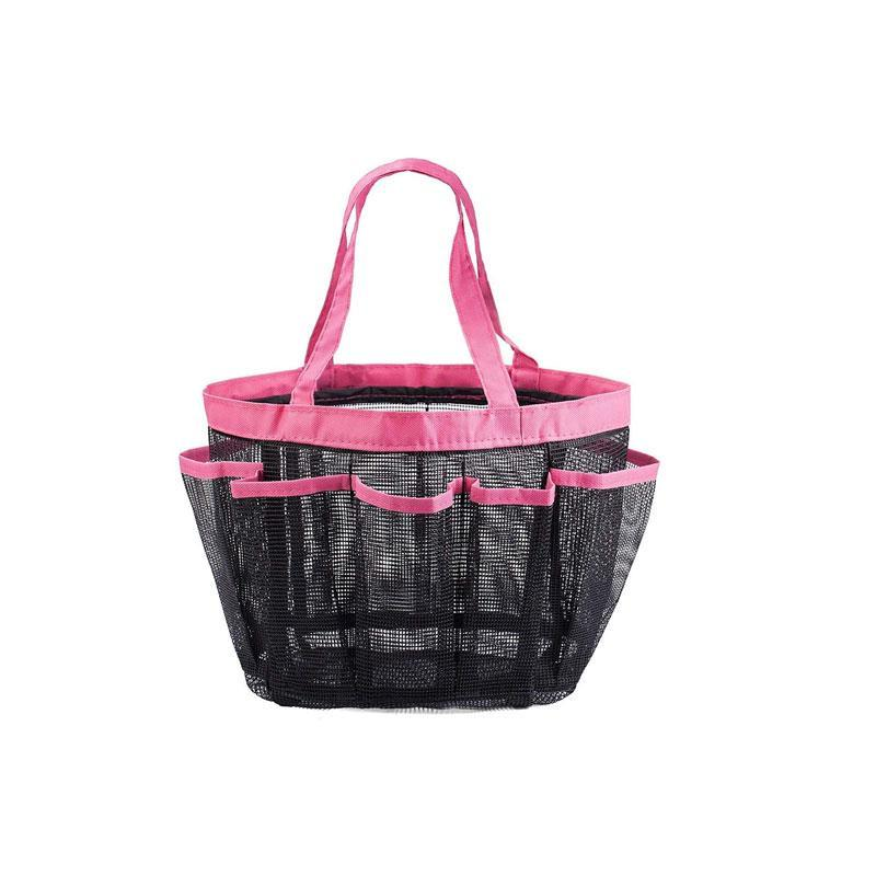 8 Compartments Compact Mesh Shower Tote Bag for Bathroom/Travel/Gym