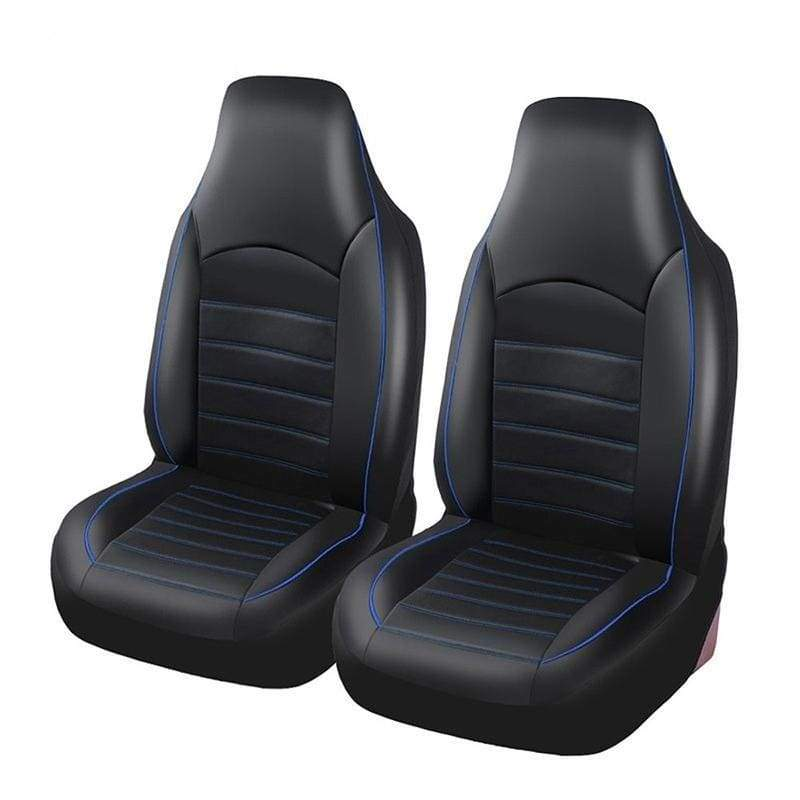 PAWACA? 2pcs Universal Leather Front Seat Covers Seat Protectors