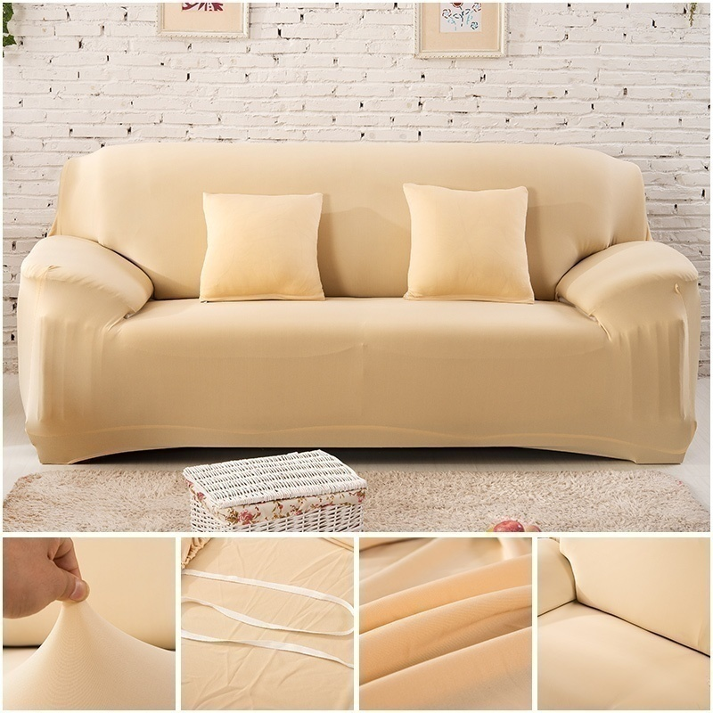 1-3 Seaters Fashion Solid Armchair Corner Elastic Sofa Cover Home Indoor Living Room Spandex Slipcoverforcouch Couch Furniture Protector Cover