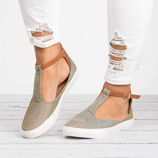 Faddishshoes Miss T-Strap Sneakers