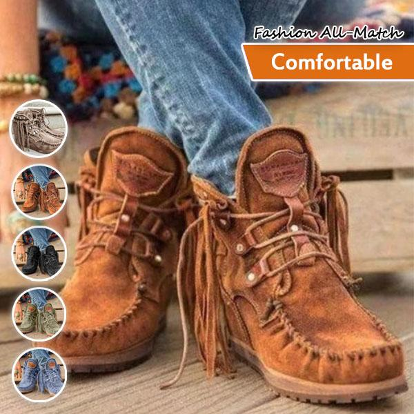 Square Toe High Top Moccasin Lace-up Loafers