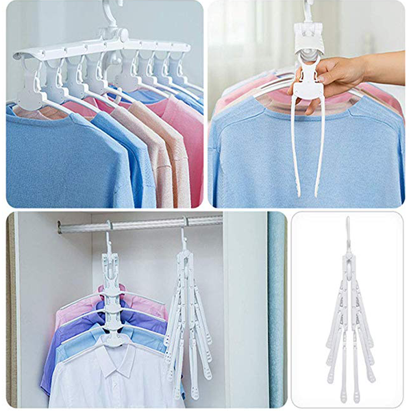 8 in 1 Magic Clothes Hanger Space Saving Clothing Storage