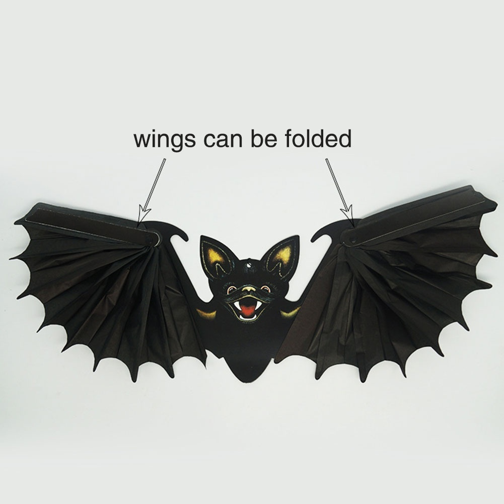 Halloween Bat Toys Prop Foldable Horror Party Supplies Decorations Yard