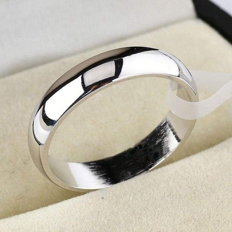 4.5mm Width Band Plain Engagement Wedding Titanium Steel Ring