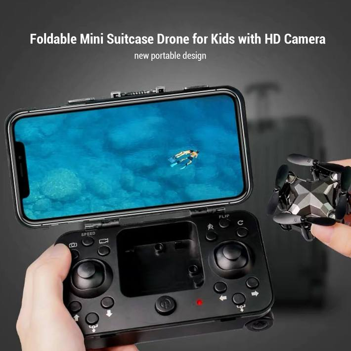 [49% OFF NOW] Foldable Mini Suitcase Drone with 1080P HD Camera