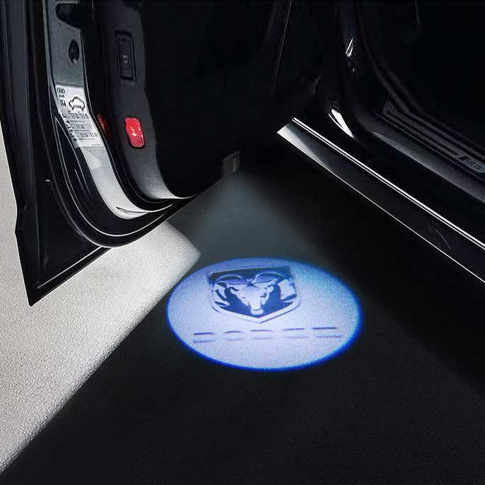 CarFitg Wireless Led Car Door Projector Puddle Logo Light - DODGE