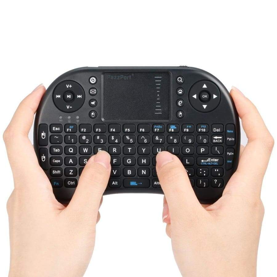 Portable USB Rechargeable Handheld Adjustable Multi-media Remote Control Touchpad Function 2.4GHz Wireless Mini Keyboard IN
