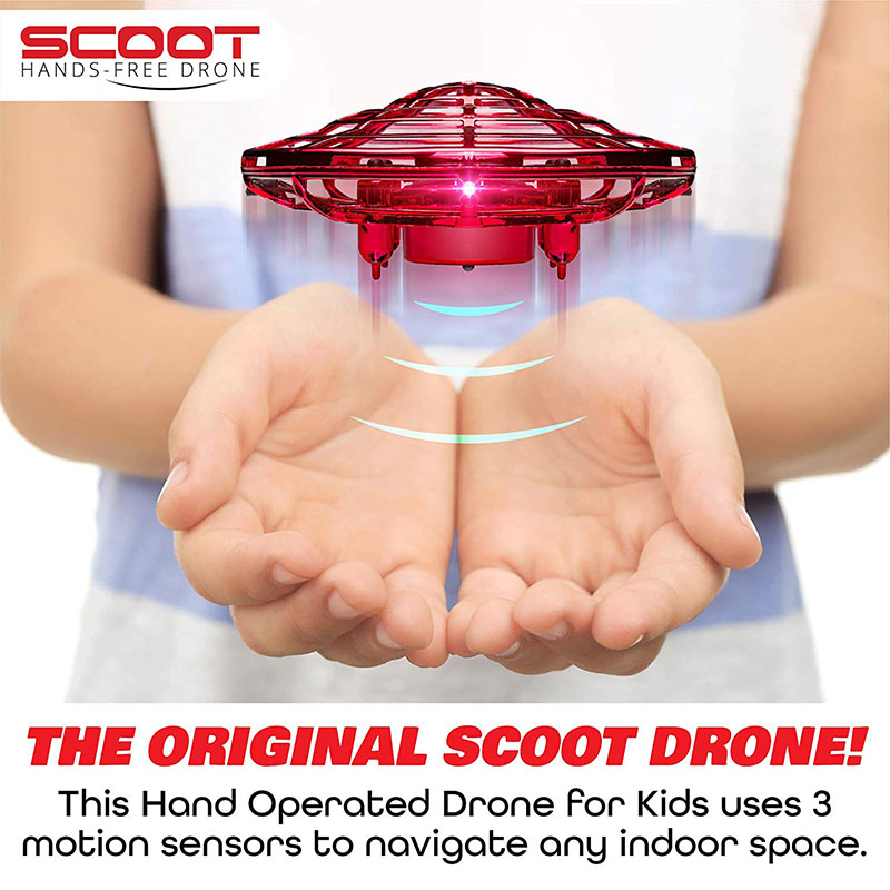 [50% off now]-Mini Drone UFO Hand Operated RC Helicopter