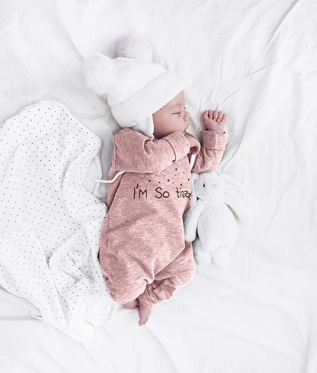 I'm So Tired Funny Letter Print Cute Baby Long Sleeve Sleepwear Jumpsuits Casual Kids Fashion Cotton One Piece Romper Pajamas Bodysuits