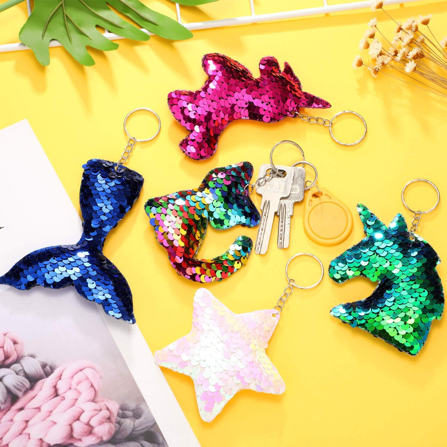 Lmfens Sequined key chain