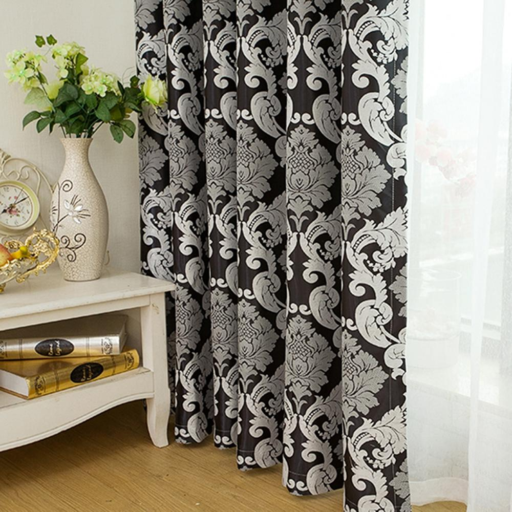 European Simple Style Jacquard Living Room Bedroom Dining Room Curtain