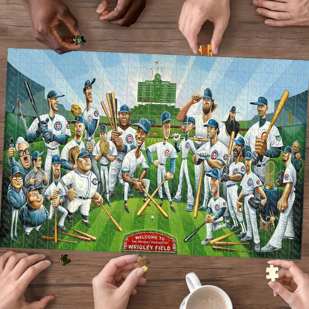 Tribute to the Legends - Chicago Cubs 1000 Piece Jigsaw Puzzle (Any 2 Free Shipping)