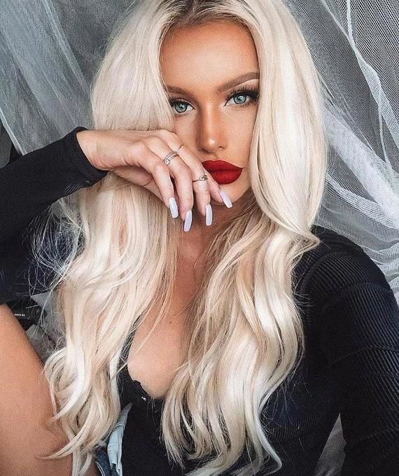 2021 New Lace Front Wigs Rose Gold Full Lace Wig Thick White Hair On Face Black Ombre Wig