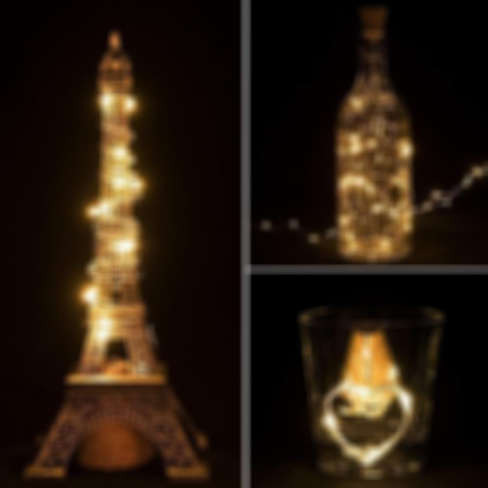 SKRTEN 20 LED Wine Bottle Cork Shape String Light Battery Operated for Decor