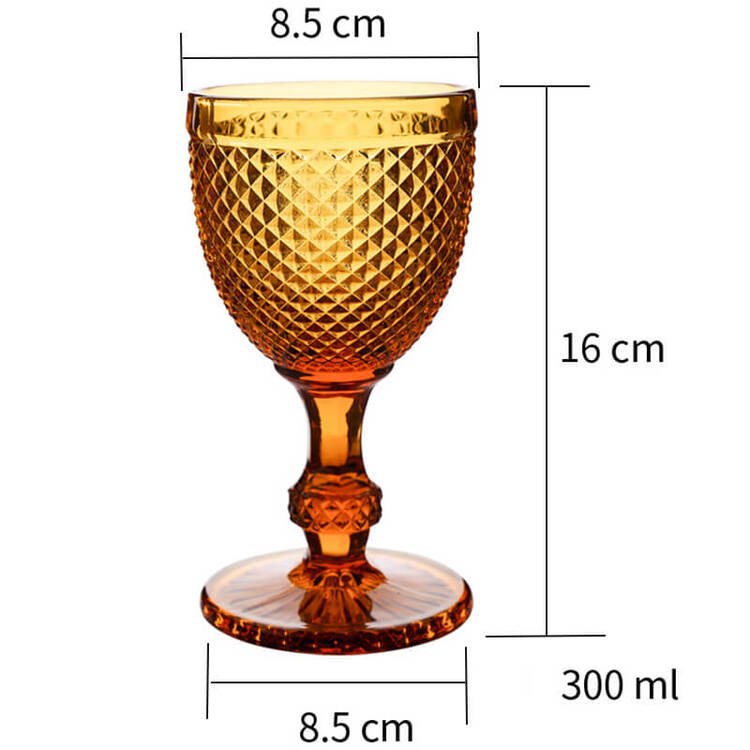 Embossed Diamond Champagne Glass