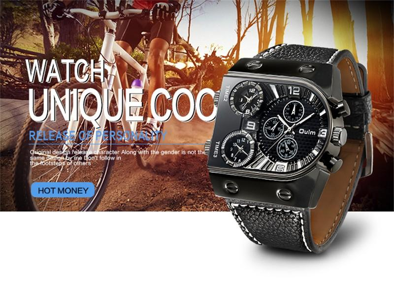 Casual Leather Strap Men Watch