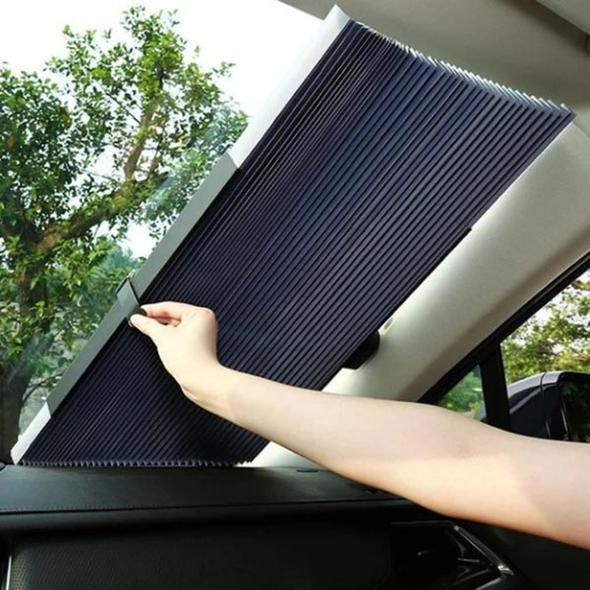 Semi-Annual Crazy Sale-Car Retractable Windshield Cover🔥