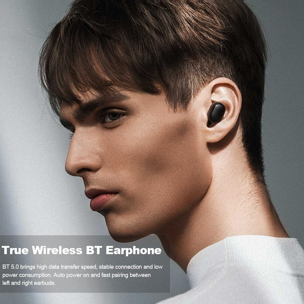 [Bluetooth5.0, DSP Noise Cancelling] TWS Wireless Earphones IPX5 Waterproof Sport Headset HIFI Stereo Headphones Mini In Ear Bluetooth Earbuds with Charging Case PK Airpods Flypods Freebuds HBQ