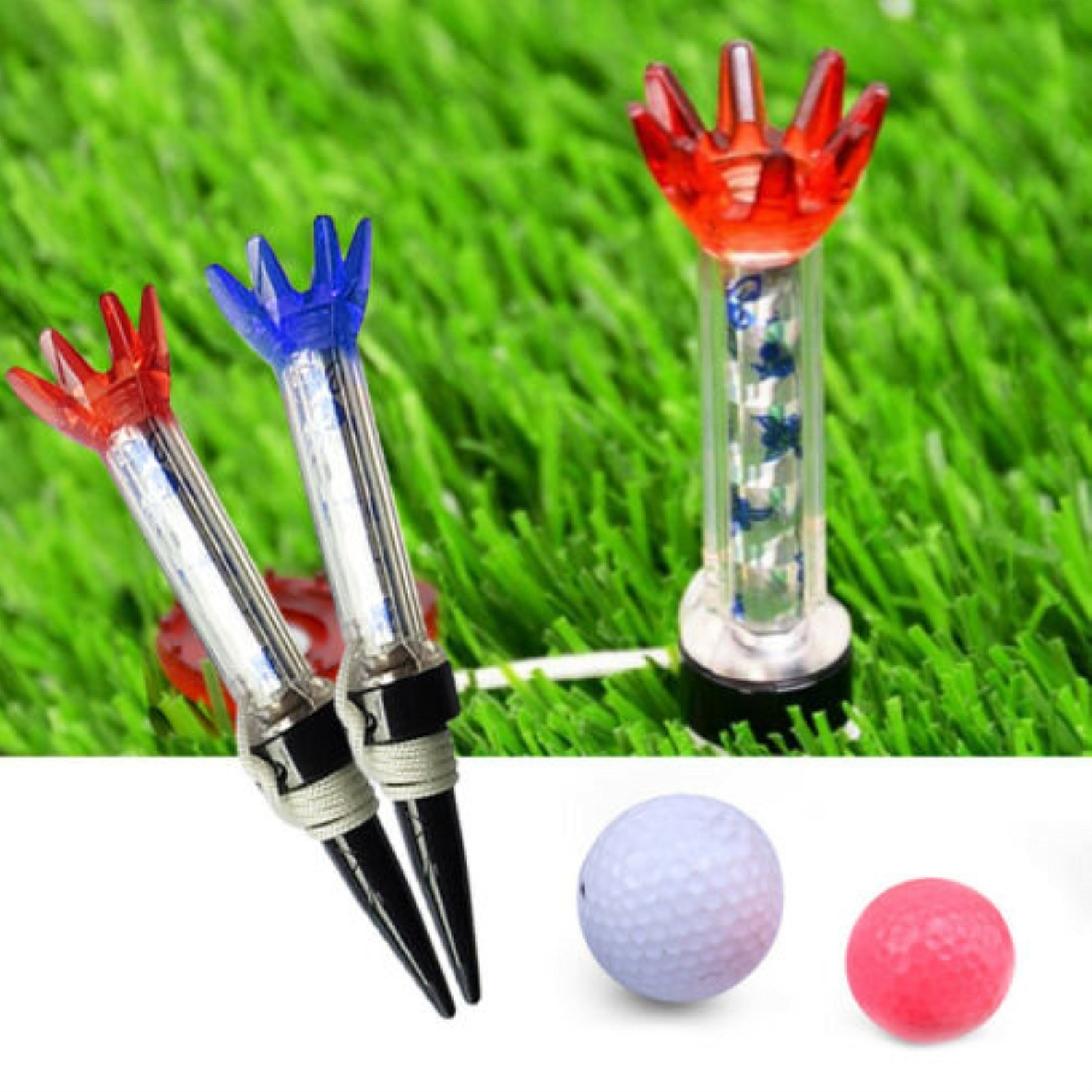 Golf Magnet Tees Value 2 Pcs Magnetic Step Down Tee With Anchor Outdoor Golf Accessories