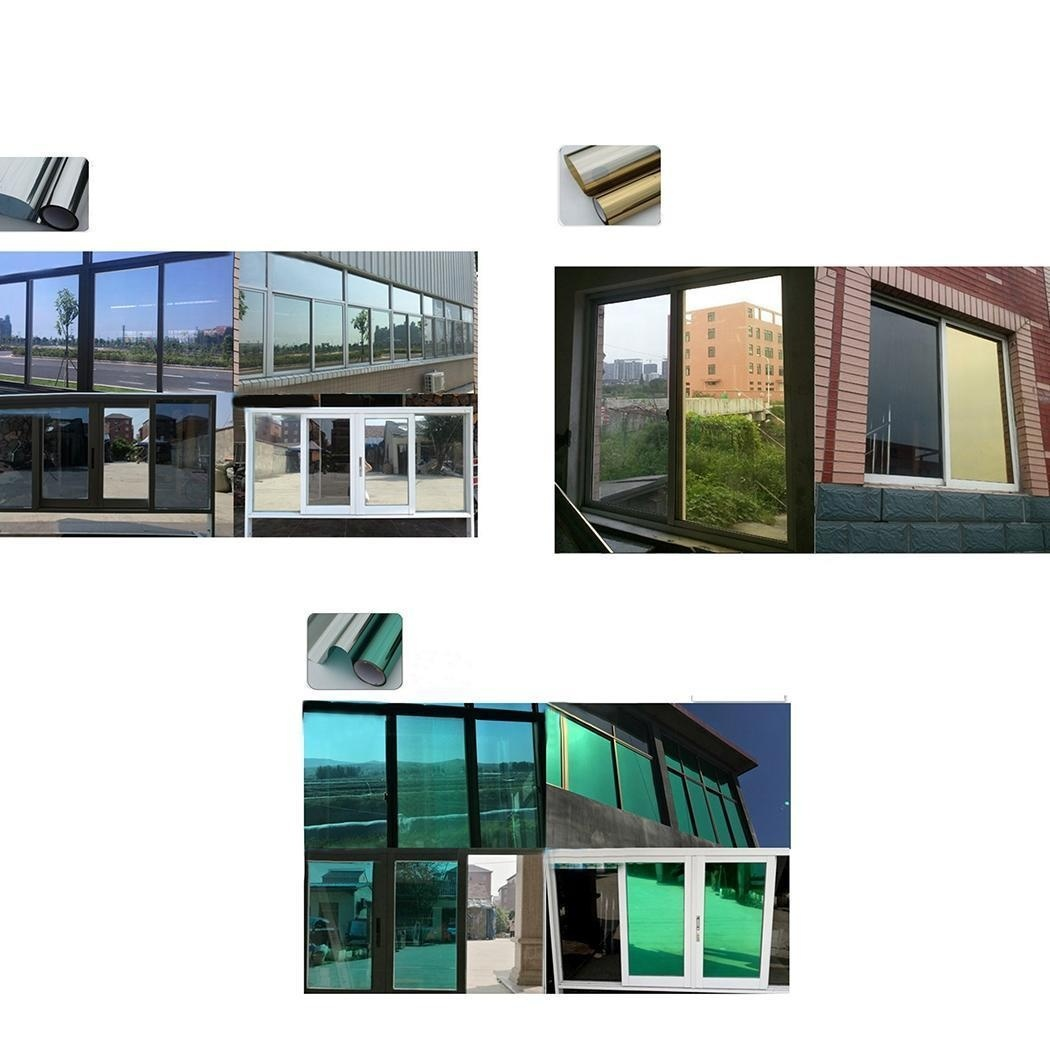 30cm/12inch(Width) Window Tint Mirror Film One Way UV Solar Reflective Home Office Heat Insulation
