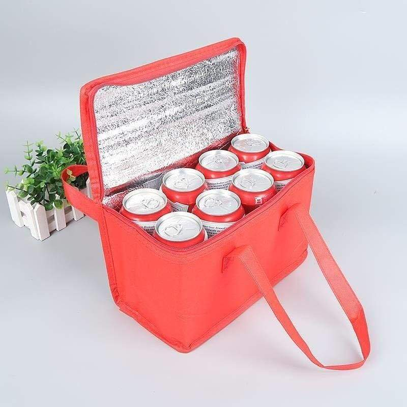1Pcs Nonwoven Can Cooler Bag Portable Ice Pack Food Packing Container Dry Ice Insulated Cooler Bags Thermal Lunch Bag Delivery Bags