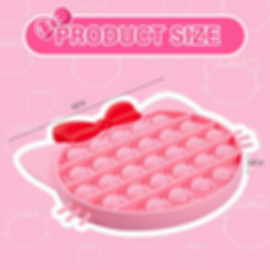 Pink Kitty Bubble Silicone Squeeze Toy