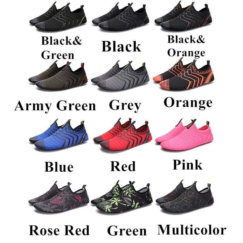 MOORWAY Summer Fashion Large Size 35-46 Non-slip Quick-dry Breathable Beach Water Shoes Yoga Fitness Swimming Outdoor Sports Shoes 12 Colors For Women and  Men