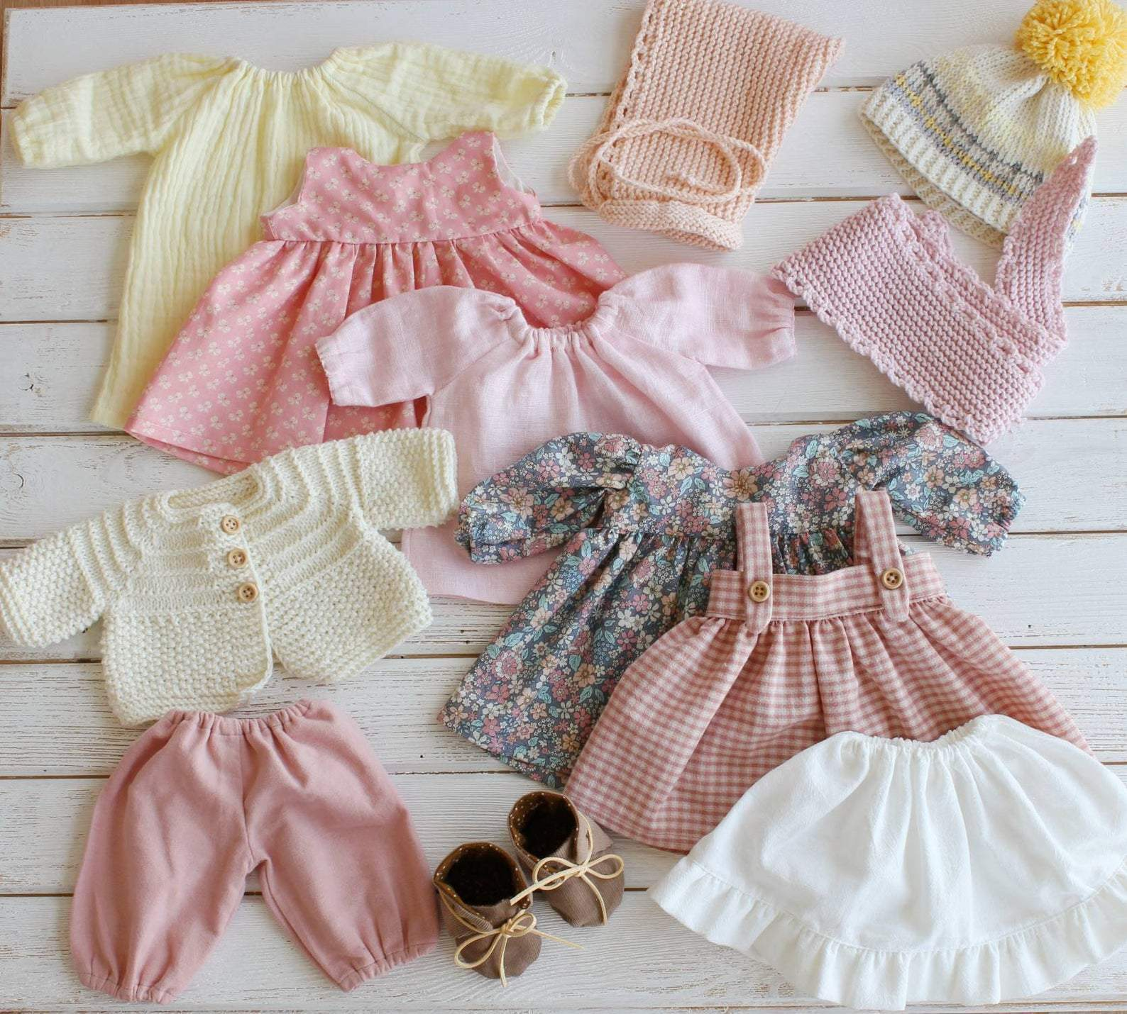 Liberty Dress For Waldorf Doll - Doll Clothing #22