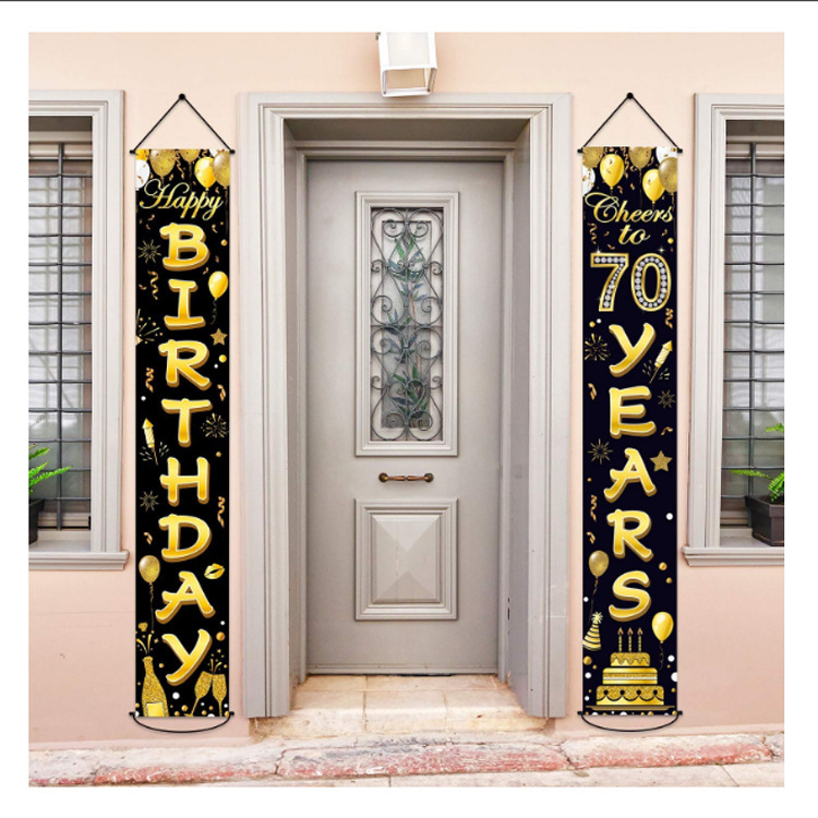 Christmas Sale! Porch Banner Decoration | Happy Birthday