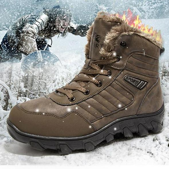 Men's Leather Sport Winter Boots-Free shipping