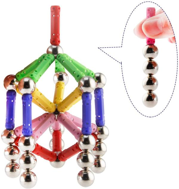 COLORED MAGNETIC STICKS & BALLS STEM TOY FOR KIDS