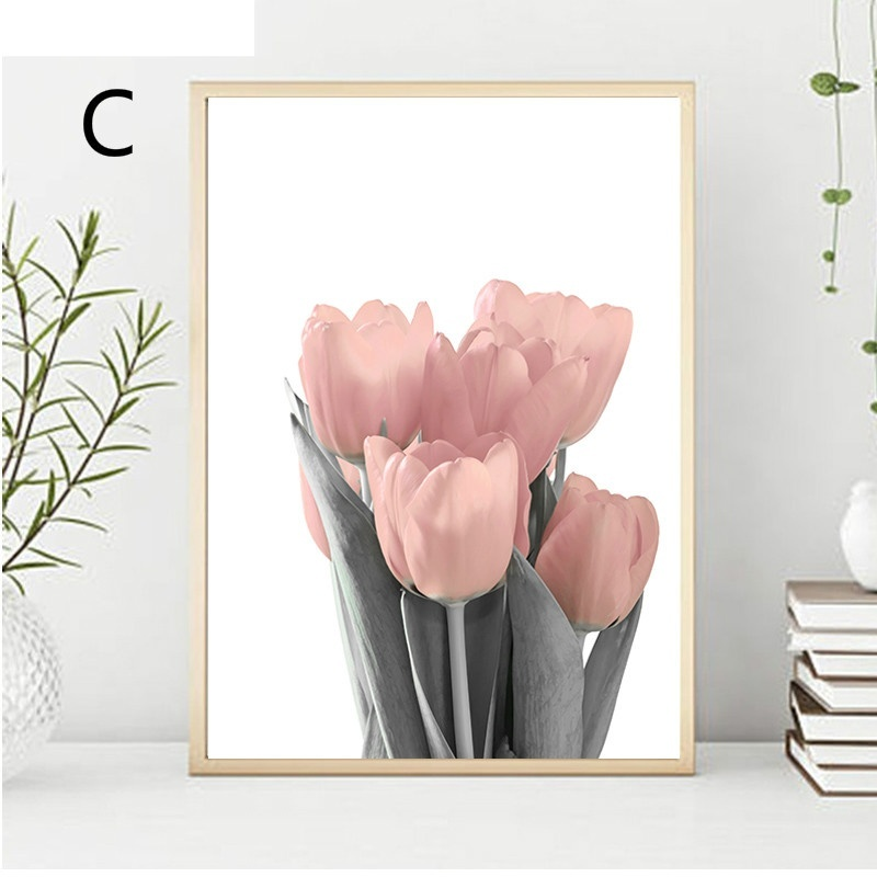 Pink Peony Canvas Painting Nordic Decor Elegant Peony Flower Poster and Print Wall Art Picture for Living Room Home Decoration