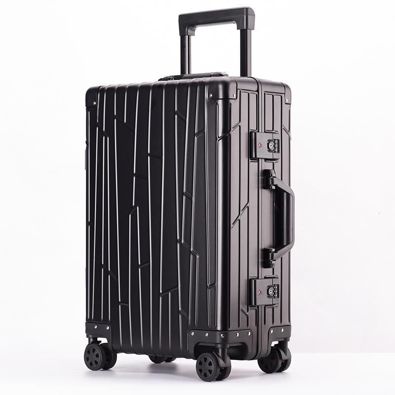 High quality full aluminum suitcase set 3pcs trolley roller bag-1.9