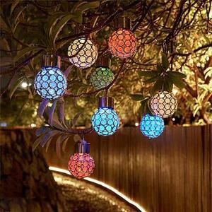 (Last day promotion only $9.99 )Solar-Powered Multi-Color LED Crystal Ball