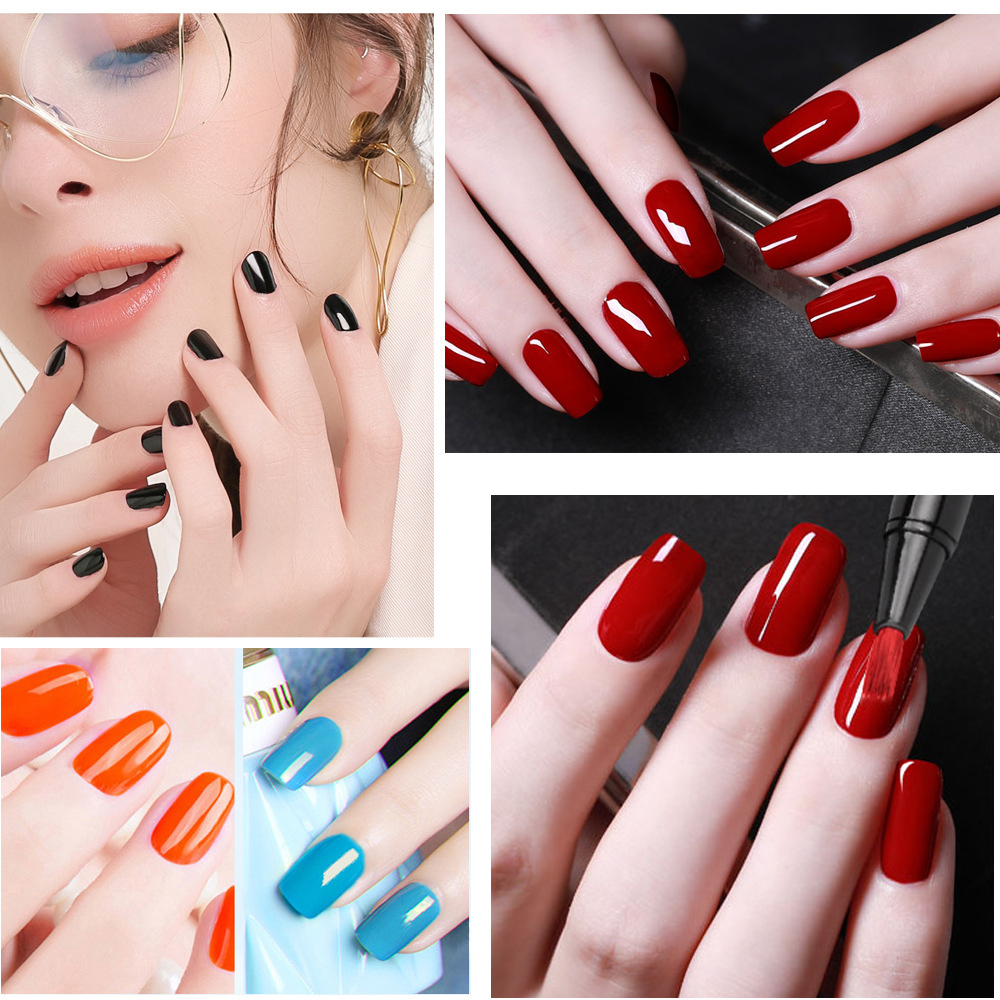 Gel pen shape nail polish rainbow light set  【50% OFF Today】