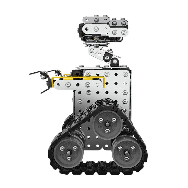 DIY 470PCS Stainless Steel Tile Robot Static Slidable Alloy Assembled Toy